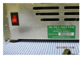 Electric Pea Sheller Switch